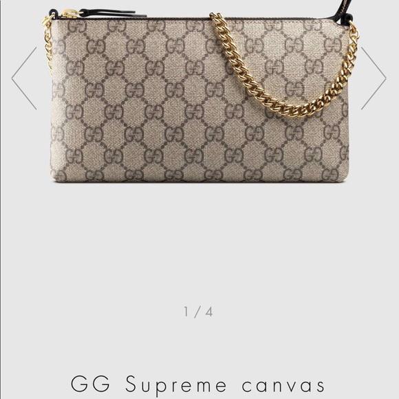 6b08a68ac Gucci Bags | Gg Supreme Canvas Wrist Wallet | Poshmark